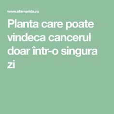 Planta care poate vindeca cancerul doar într-o singura zi Cancer, Health Fitness, Mango, Medicine, Home, Plants, Manga, Fitness, Health And Fitness