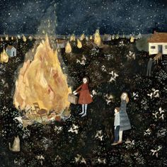 They sacrificed everything to the stars. large giclee print by Amanda Blake. Rich with narrative. #rowenamurillo