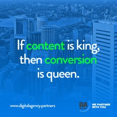 If content is king, then #conversion is queen.