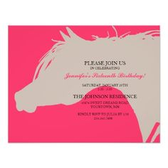 Pink Arabian Horse Head Birthday Party Invitation We have the best promotion for you and if you are interested in the related item or need more information reviews from the x customer who are own of them before please follow the link to see fully reviewsDeals          Pink Arabian Ho...