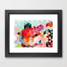 Heavy words 01. Framed Art Print by Three of the Possessed - $35.00