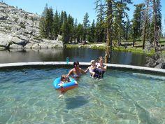 . the natural, granite hot tub...