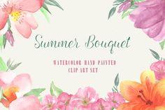 Watercolor Flower Clip Art - Graphics - 1