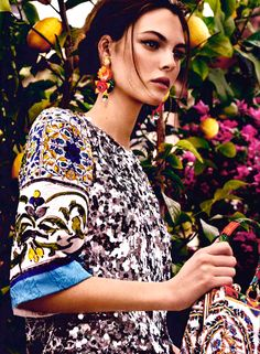 Vittoria Ceretti in Dolce&Gabbana Pre Fall 2014-15 on Marie Claire Kuwait and Arabia July 2014