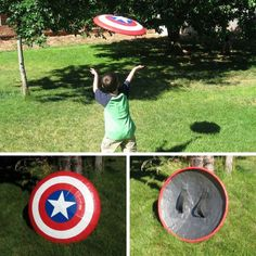 Captain America Flying Shield | 29 Geeky Crafts You Need to Make Right Now