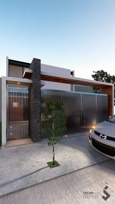 Explore oscarq3d's photos on Flickr. oscarq3d has uploaded 152 photos to Flickr. Home Gate Design, Gate Wall Design, Grill Gate Design, House Fence Design, Exterior Wall Design, Main Gate Design, Gate House, House Entrance, Facade House