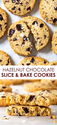Hazelnut Chocolate Slice-and-Bake Eggless Cookies - The Loopy Whisk Chocolate Slice, Chocolate Cookie Recipes, Easy Cookie Recipes, Chocolate Hazelnut, Healthy Dessert Recipes, Gluten Free Desserts, Easy Desserts, Delicious Desserts, Sweets Recipes