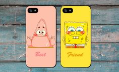 Best Friends Matching Cases Spongebob Squarepants Patrick Star iPhone 6 5s 5c Samsung s5 s4 by CasenBorads on Etsy https://www.etsy.com/listing/220593036/best-friends-matching-cases-spongebob