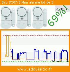 Elro SC07/3 Mini alarme lot de 3 (Outils et accessoires). Réduction de 69%! Prix actuel 2,88 €, l'ancien prix était de 9,32 €. https://www.adquisitio.fr/elro/sc073-mini-alarme-lot-3