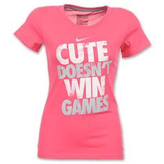 The Nike Attitude Tee Shirt challenges anyone to take you on. Show off your skills in the form fitting design and take the win. Features a rib-crew neck with screen-printing on the front. Nike Outfits, Sport Outfits, Cool Shirts, Tee Shirts, Softball Shirts, Softball Stuff, Funny Shirts, Athletic Wear, Swagg