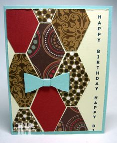 Masculine card using Vertical Greetings stamp set and Tailored Tag Punch from Stampin' Up!