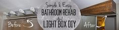 Boxing in ugly old '80s style light fixtures! And, a total bathroom transformation for under 50 bucks!