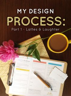 My Design Process: Part 1 - Lattes & Laughter | Learn what it is like to work with Think Creative, a Kansas City based Branding & Marketing Boutique