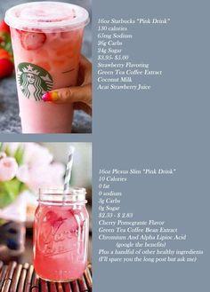 Pink Drink Recipes, Pink Drinks, Plexus Pink Drink, Green Tea Coffee, Flavoured Green Tea, Plexus Ambassador, Pink Starbucks, Plexus Slim, Health And Nutrition