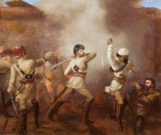 Captain C. J. S. Gough (1832–1912), 5th Bengal European Cavalry Winning the Victoria Cross at Khurkowdah, Indian Mutiny, 15 August 1857