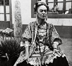 Frida in the Casa Azul, circa 1952. She died two years later at the age of 47 Photograph: Bernice Kolko/Frida Kahlo Museum