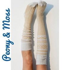 Just In! Peony & Moss Scandinavian Socks No longer available in this color online! I'm officially addicted to Peony & Moss socks!! This listing is for (1) pair of Peony & Moss knee high Scandinavian socks in ivory with mustard accents...super versatile...these could easily be thigh highs as well depending on how tall you are...they're high quality and absolutely adorable! 53% Cotton; 30% Acrylic; 15% Poly; 1% Nylon; 1% Spandex ❌ PRICE IS FIRM UNLESS BUNDLED ❌ Peony and Moss Accessories…