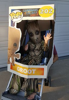 DIY Funko Pop! Halloween costume. Great for children in wheelchairs or strollers.