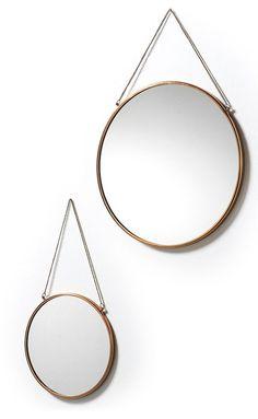 Icon spiegel (set van 2) koper - LaForma
