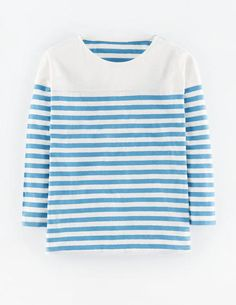 Oversized Stripe Top WL947 3/4 Sleeved Tops at Boden