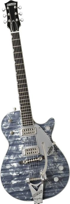 Gretsch Guitars G6129TL Sparkle Jet Electric Guitar with Bigsby Light Blue Pearl