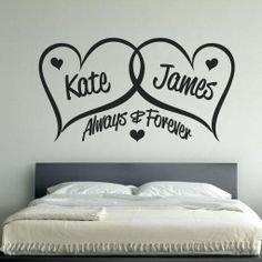 Personalised Love Hearts Bedroom Wall Art - BGraphics   Perfection