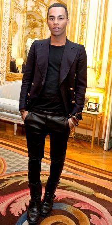 Olivier Rousteing, head designer at Balmain// Fashion Art, Fashion Looks, Mens Fashion, Olivier Rousteing, Balmain Men, Crazy Girls, Paris Photos, Photo Diary, Vogue Paris
