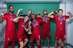 Liverpool stars proudly show off their FIFA Club World Cup title during celebratory photoshoot Liverpool Fc, Liverpool Football Team, Liverpool Champions, Liverpool Players, College Football, Doha, Arnold Photos, Alexander Arnold, Champions Of The World