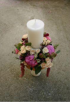 Flowers of Soul: Lumanari de botez Centerpieces, Table Decorations, Pillar Candles, Wedding Flowers, Baby, Home Decor, Creative Flower Arrangements, First Holy Communion, Candles