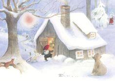 Weihnacht im Wald Postkarte                                                                                                                                                                                 Mehr