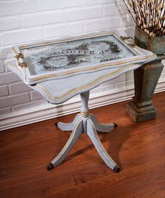 Loving this French Butler Table and Tray Set on #zulily! #zulilyfinds