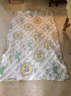 Vintage Notre Dame blanket