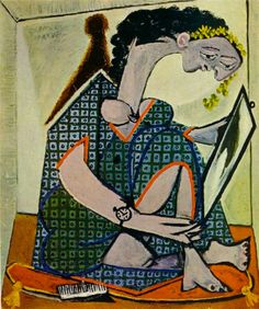 Pablo Picasso, Woman Wearing Watch with a Mirror, 1936
