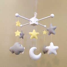 Custom star, cloud and moon mobile