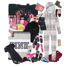 christmas was like .... by kristinabone on Polyvore featuring polyvore, Victoria's Secret, Victoria's Secret PINK, UGG Australia, Retrò, CO, fashion, style and clothing