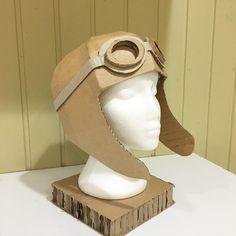 Cardboard Aviation Helmet by Zygote Brown Designs