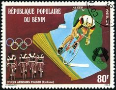 Stamp: Cyclists at the 3rd African Games in Algeria (Benin) (Olympic Games)…