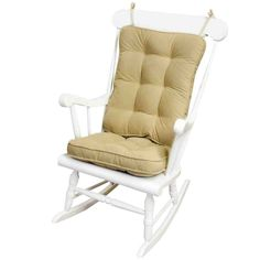 Greendale Home Fashions Standard Rocking Chair Cushion Hyatt fabric, Cream recycled polyester fill for added comfort, strength and durability Glider Rocker Chair, Rocking Chair Cushions, Patio Rocking Chairs, Seat Cushions, Glider Cushions, Cracker Barrel Rocking Chair, Barrel Chair, Home Design, Glider Replacement Cushions