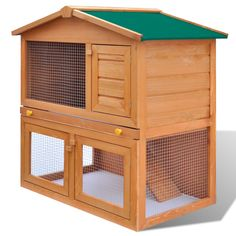 Outdoor Rabbit Hutch Small Animal House Pet Cage 3 Doors Wood Weather resistant in Pet Supplies, Small Animal Supplies, Cages & Enclosure | eBay