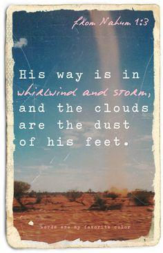 from Nahum 1:3