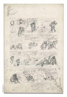 Une planche de »Tintin au Tibet » adjugée 289 500€ à Paris