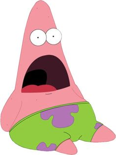 Shocked Patrick Star.