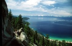 Wow Lake Tahoe, California. A fun time jet skiing one summer.