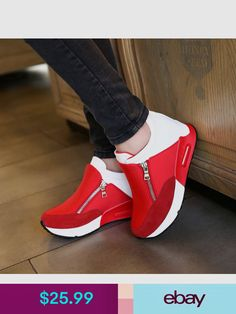 the latest aff3d 2d707 2018 New Women Casual Shoes Height Increasing Zipper Breathable Women  Walking Flats Trainers Shoes Autumn Platform Dropshipping