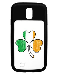 Irish Flag - Shamrock Distressed Galaxy S4 Case by TooLoud