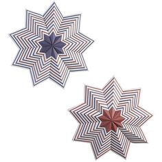 Crate & Barrel Set of 2 Patriotic Large Pinwheels ($12) ❤ liked on Polyvore featuring home, home decor, blue and white home decor, red white and blue home decor, star home decor, red home decor and crate and barrel