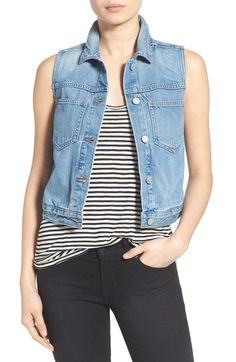 Madewell Chest Pocket Denim Vest available at #Nordstrom