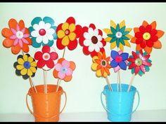 ▶ FLORES GOMA EVA O CARTULINA, FIORI DI EVA O CARTA,FOAMY FLOWER.m4v - YouTube