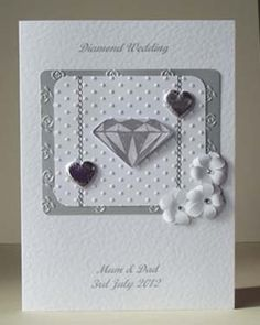 Diamond Wedding Anniversary Gift Ideas Uk : 60th Diamond / 50th Gold Wedding Anniversary Card on eBay! Wedding ...