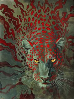 e621 abstract_background feline feral hibbary leopard looking_at_viewer mammal solo spots